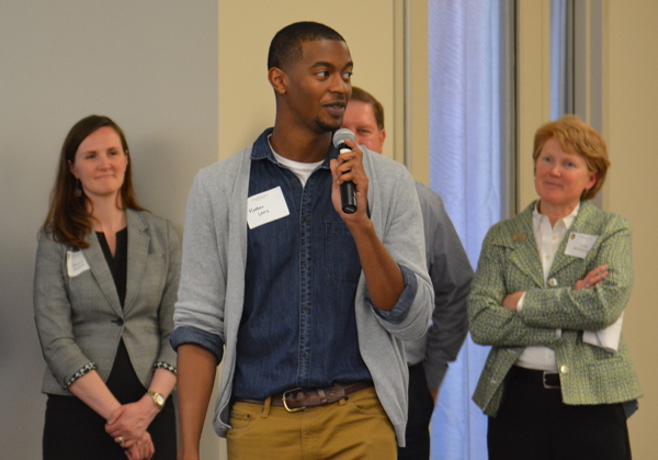 Image of student speaking at Spring Open House