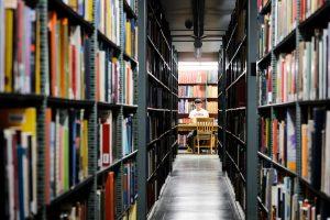 Memorial library stacks.